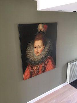 Klantfoto: Margaretha van Oostenrijk, Frans II Pourbus