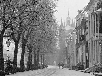 Sneeuw in Zierikzee. van