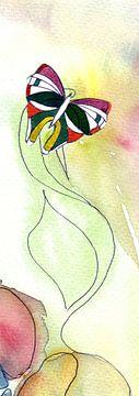 Schmetterling Art Deco von Claudia Gründler