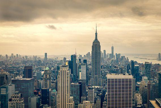 Uitzicht over Downtown Manhattan