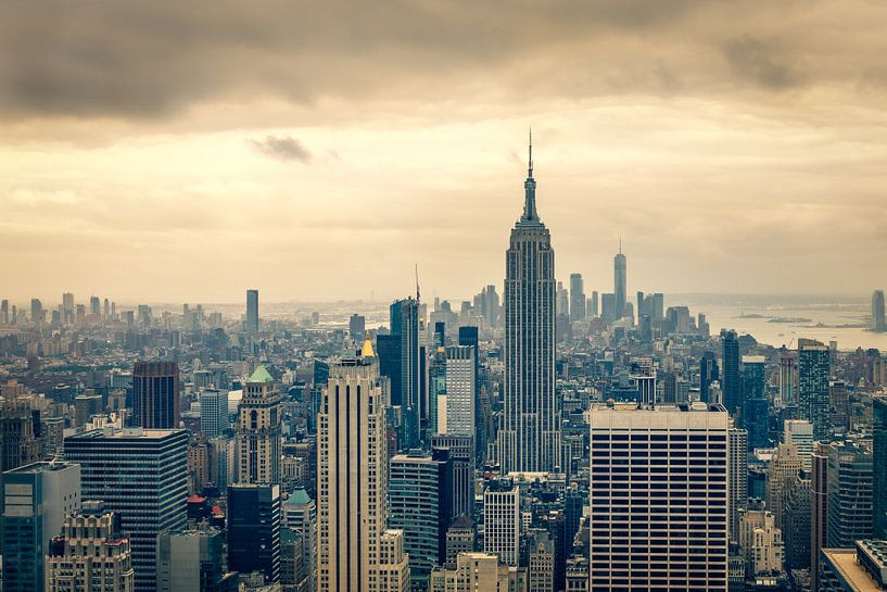 Uitzicht over Downtown Manhattan van John van den Heuvel