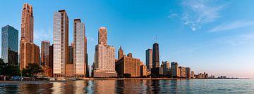 Sonnenaufgang in Chicago von Jeroen Bukman