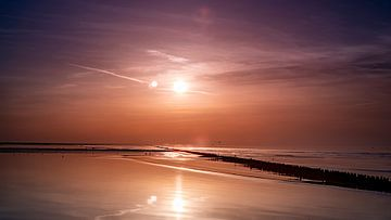 Zonsondergang op het wad van Johan Rosema Fotografie