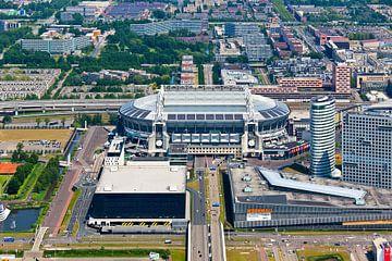Amsterdam Arena / Johan Cruijff Arena vanuit de lucht gezien