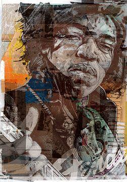 Jimi Hendrix pop art van Jos Hoppenbrouwers