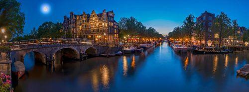 Panorama vanaf Papiermolensluis in Amsterdam