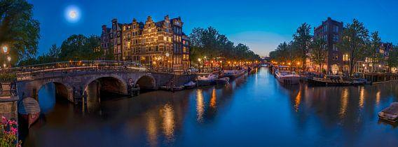 Panorama vanaf Papiermolensluis in Amsterdam van  Ardi Mulder
