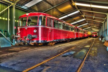 Antieke tram van