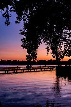 Romantische zonsondergang Kralingse Plas