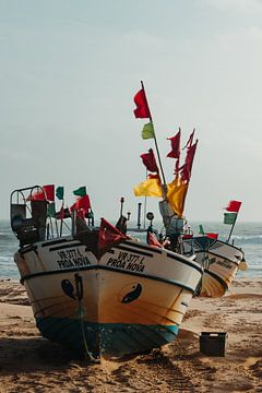 Portugese Vissersboten van Daan Beuman