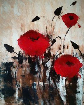 Rode bloemen van Angel Estevez