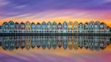 Houten kleurrijke huisjes sur Michel Jansen