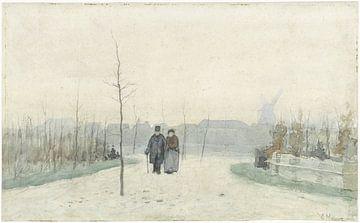 Altes Paar in einem neu angelegten Park, Anton Mauve