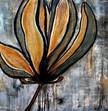 magnolia bloem  van Femke van der Tak (fem-paintings)