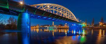 Panorama der Arnheimer John Frostbrücke von Dave Zuuring