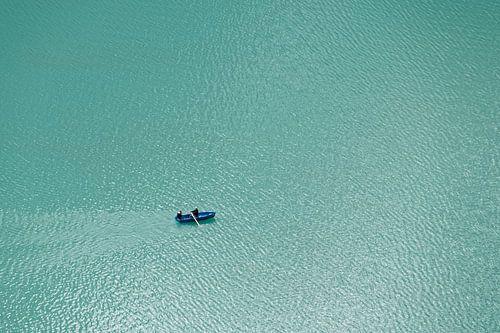 Roeiers op het Oeschinenmeer