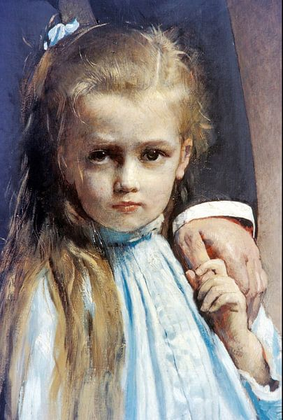 Léon Bonnat-Pasteur und seine Enkelin Camille Vallery-Radotot. von finemasterpiece