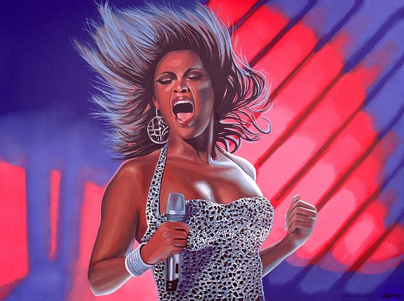 Beyoncé schilderij van Paul Meijering