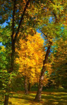 ruisende bladeren van Marion Tenbergen
