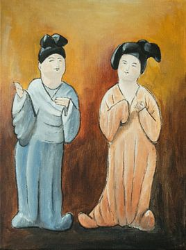 Chinese dikke dames 'Fat ladies' VIII van Linda Dammann
