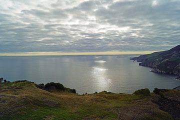 Zonsondergang bij de Slieve League kliffen in Ierland van Babetts Bildergalerie