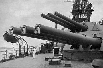 14-Zoll-Geschütze auf der USS Pennsylvania 1917 von Atelier Liesjes