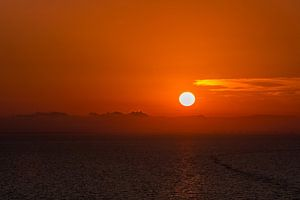 Zonsondergang op de Balearische Zee van