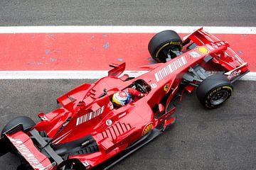 Ferrari F1 bolide F2007 van