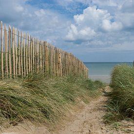 Auf dem Weg zum Strand. Meer, Strand und Weg durch die Dünen von Patrick Verhoef