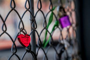Sweethearts Locked To A Fence