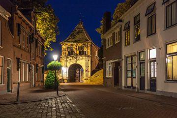 De Schoonhovens Veerpoort in de avond von Stephan Neven