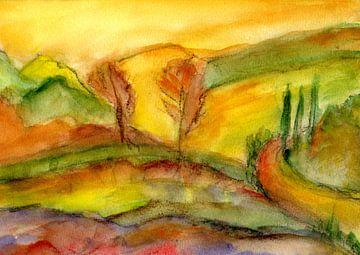 Impressie van een landschap 2 van Claudia Gründler