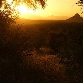 Sonnenuntergang in Südafrika von Johnno de Jong