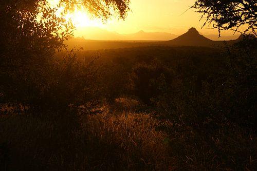 Zonsondergang in Zuid-Afrika