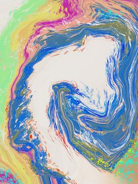 """""""Pixel"""" abstract kunst van De nieuwe meester"""