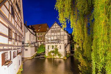 Visserswijk in Ulm aan de Donau van Werner Dieterich