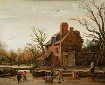 Winterlandschaft mit Bauernhof, Esaias van de Velde