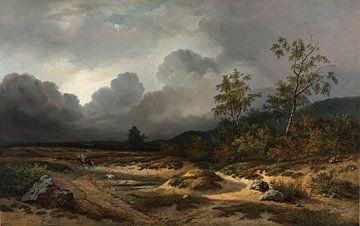 Landschap bij naderend onweer, Willem Roelofs van
