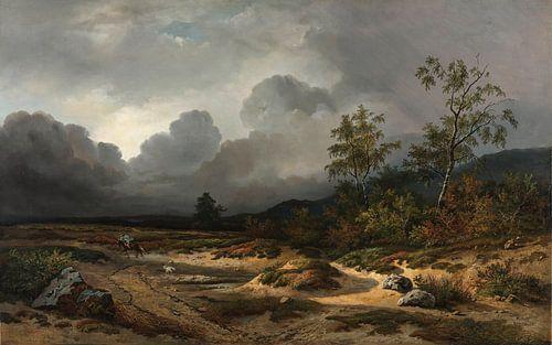 Landschap bij naderend onweer, Willem Roelofs van Hollandse Meesters