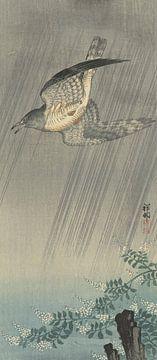 Koekoek in storm van Ohara Koson