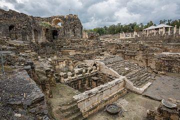 Romeinse ruines in Bet She An in Israel van Joost Adriaanse