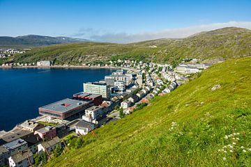 Blick auf die Stadt Hammerfest in Norwegen von Rico Ködder