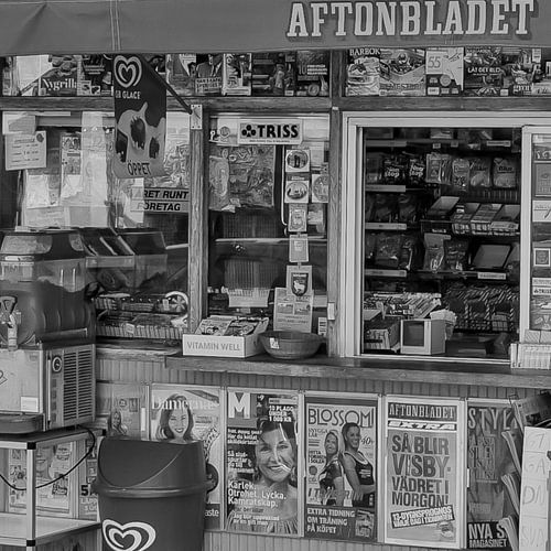 Kiosk in Zweden van
