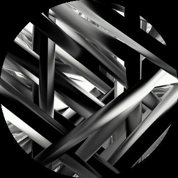 Abstract Criss Cross van Romana Vac