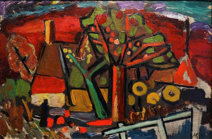 Landschap bij Bennekom, Herman Justus Kruyder, 1925 van Atelier Liesjes