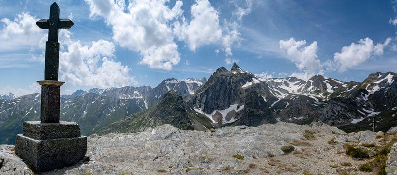 Grote Sint-Bernhardpas panorama van Ton de Koning