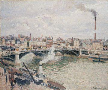 Matin, temps couvert, Rouen, Camille Pissarro sur