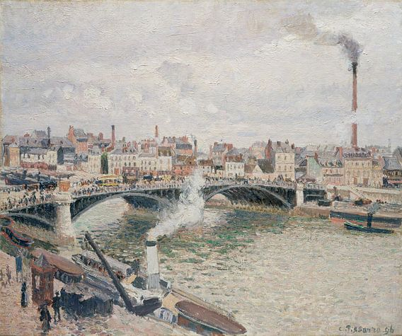 Morning, een bewolkte dag, Rouen, Camille Pissarro