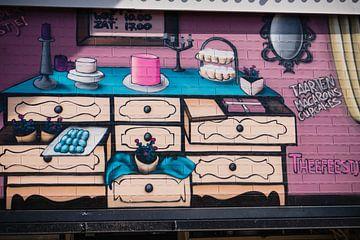 Graffiti op garagedeur van joost bosmans