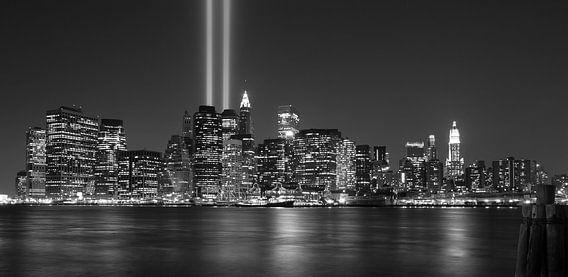 9/11 in New York, by night van Chris van Kan